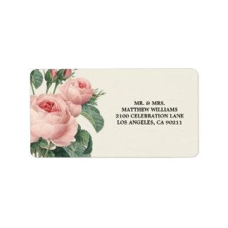 Etiqueta de dirección botánica del encanto el  