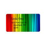 Etiqueta de dirección brillante del arco iris