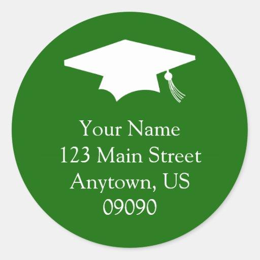 Etiqueta de dirección clásica de la graduación