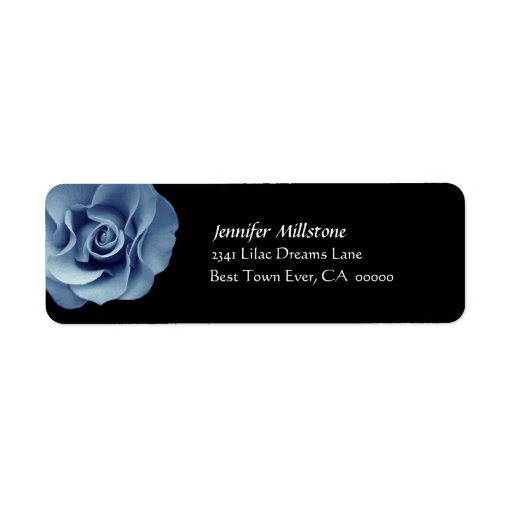 Etiqueta de dirección color de rosa AZUL del boda