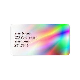 Etiqueta de dirección colorida de la abstracción