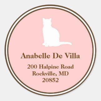 Etiqueta de dirección conocida de encargo del gato