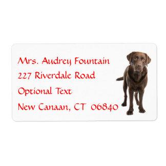 Etiqueta de dirección conocida personalizada