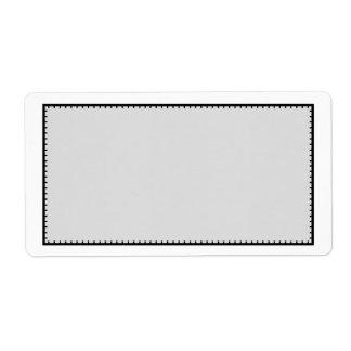 Etiqueta de dirección cosida negro gris del envío