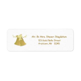 Etiqueta de dirección de Belces del oro