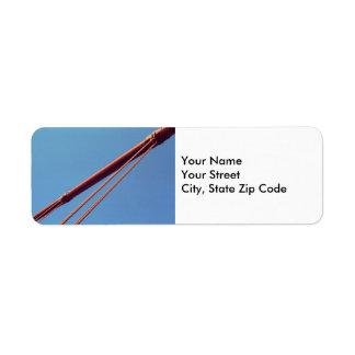 Etiqueta de dirección de cable de la suspensión de
