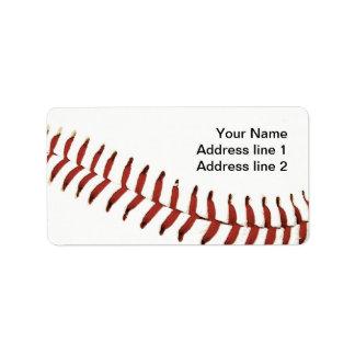 etiqueta de dirección de costura de la bola del bé