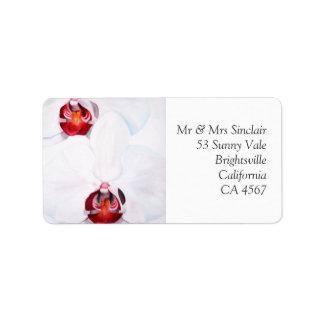 Etiqueta de dirección de encargo de la orquídea ro