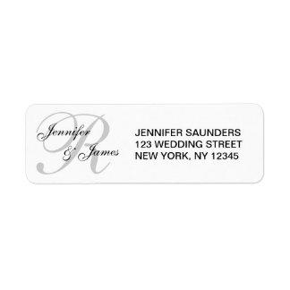 Etiqueta de dirección de encargo del boda con