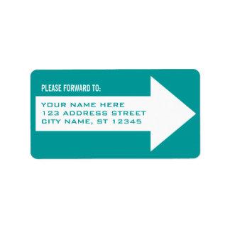 Etiqueta de dirección de expedición de la flecha