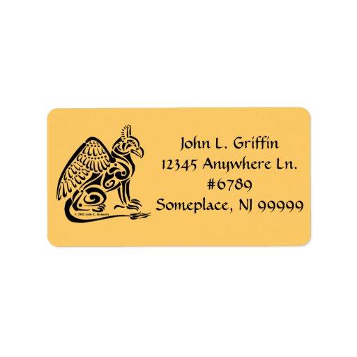 Etiqueta de dirección de Gryphon