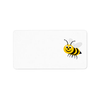 Etiqueta de dirección de la abeja