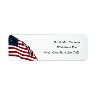 Etiqueta de dirección de la bandera americana 2371