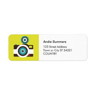 Etiqueta de dirección de la cámara del juguete (Fi
