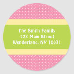 Etiqueta de dirección de la fiesta de bienvenida a