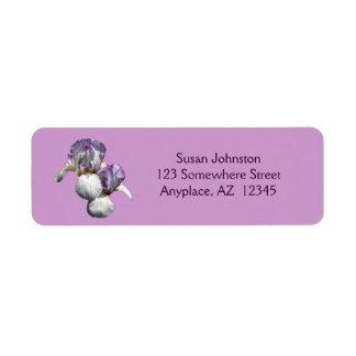 Etiqueta de dirección de la flor de los pares del
