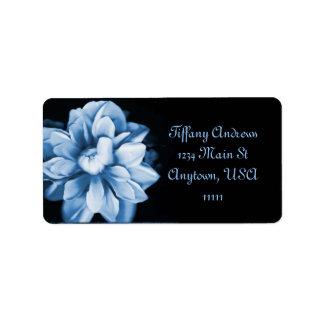 Etiqueta de dirección de la floración del zafiro