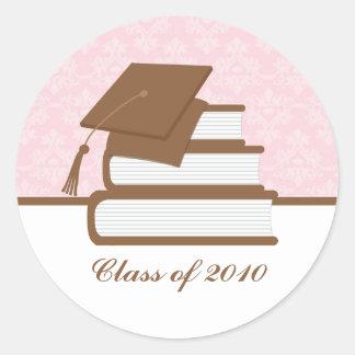 Etiqueta de dirección de la graduación del