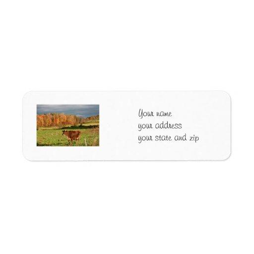Etiqueta de dirección de la granja