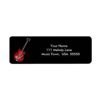 Etiqueta de dirección de la guitarra eléctrica