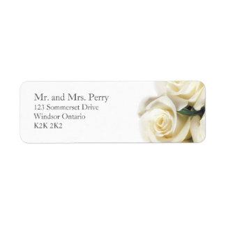 Etiqueta de dirección de la impresión del rosa