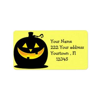 etiqueta de dirección de la Jack-o-linterna