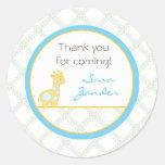 Etiqueta de dirección de la jirafa del bebé/pegati