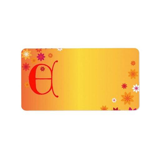Etiqueta de dirección de la letra E