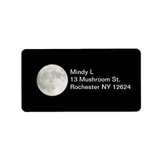 Etiqueta de dirección de la Luna Llena