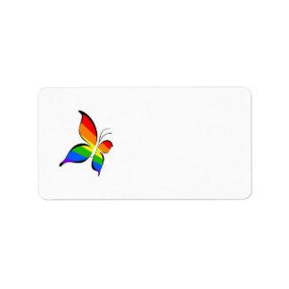 etiqueta de dirección de la mariposa del orgullo