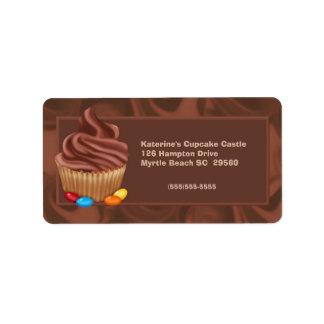 Etiqueta de dirección de la panadería