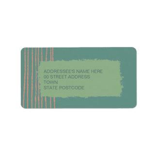 Etiqueta de dirección de la pátina