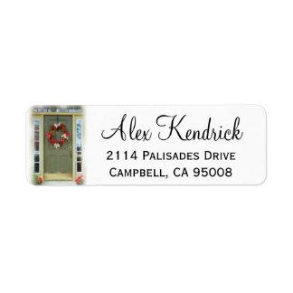 Etiqueta de dirección de la puerta principal