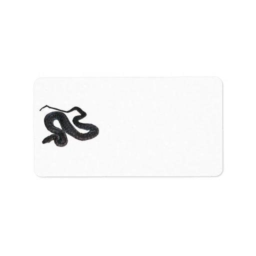 Etiqueta de dirección de la serpiente del fichero