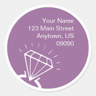 Etiqueta de dirección de la silueta del anillo de