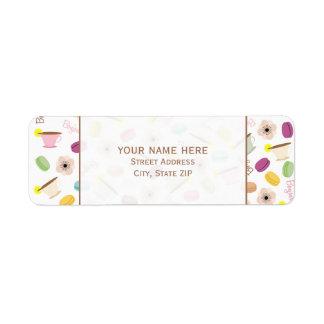 Etiqueta de dirección de las anémonas y de las