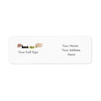 Etiqueta de dirección de las llaves y de los puños