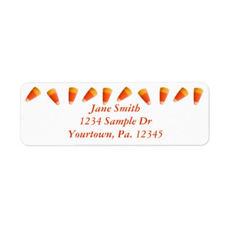 Etiqueta de dirección de las pastillas de caramelo