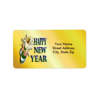 Etiqueta de dirección de los Años Nuevos de Champá