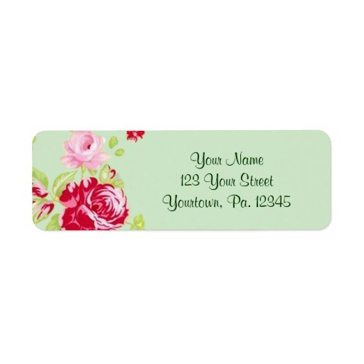 Etiqueta de dirección de los rosas