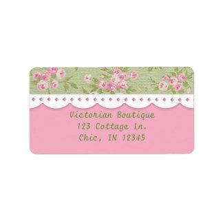 Etiqueta de dirección de lujo color de rosa