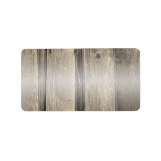 Etiqueta de dirección de madera del granero del pa