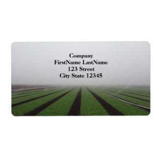 Etiqueta de dirección de niebla del campo