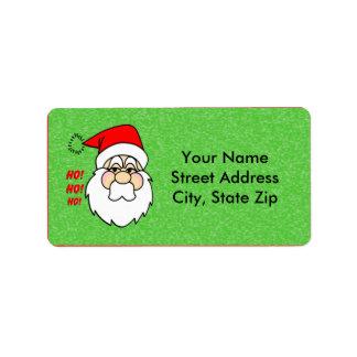 Etiqueta de dirección de Papá Noel