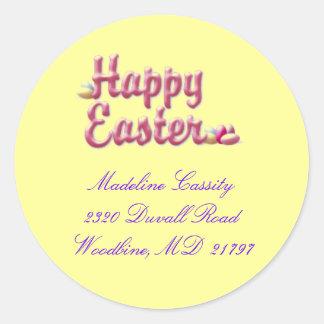 Etiqueta de dirección de Pascua