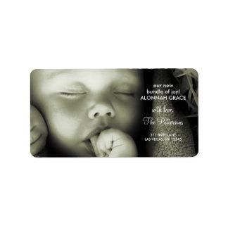 etiqueta de dirección del bebé 311-Customizable