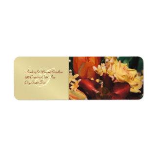 Etiqueta de dirección del boda de la perla del ros