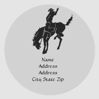 Etiqueta de dirección del caballo
