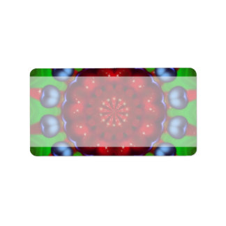 Etiqueta de dirección del caleidoscopio del