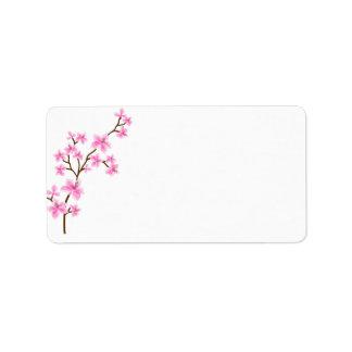 Etiqueta de dirección del envío de la flor de
